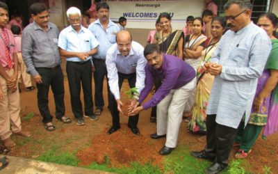 Tree plantationtree saplings distribution programme at Navachethana School Neermarga