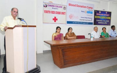 Blood donation camp in association with Rotary Club