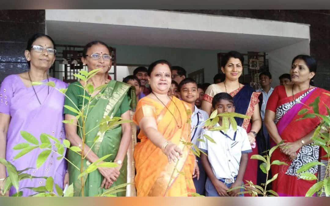 Vanamahotsava by interact club of Canara. Highschool main