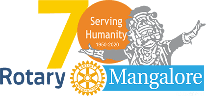 Rotary Mangalore Surving Humanity Logo